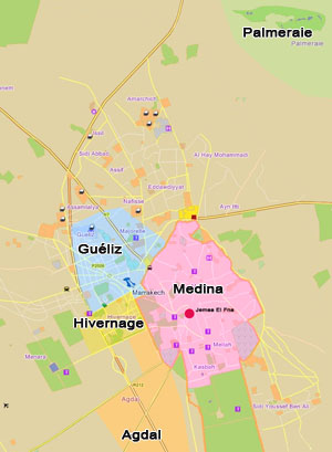 MARRAKECH CHARM CHIC HOTELS THE MARRAKESH DISTRICTS THE MAP OF
